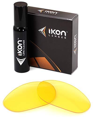 Ikon Iridium Ersatzgläser für Oakley Straight Jacket 2007 Asian Fit Sonnenbrille - Verschiedene Optionen, Herren, HD Yellow, Einheitsgröße