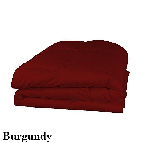 Scala Premium Qualität Ägyptische Baumwolle 650Fadenzahl Tröster mit Spannbetttuch Set 200GSM Einzelbett Großbritannien Burgund Rot Massive 100% Baumwolle 650tc -