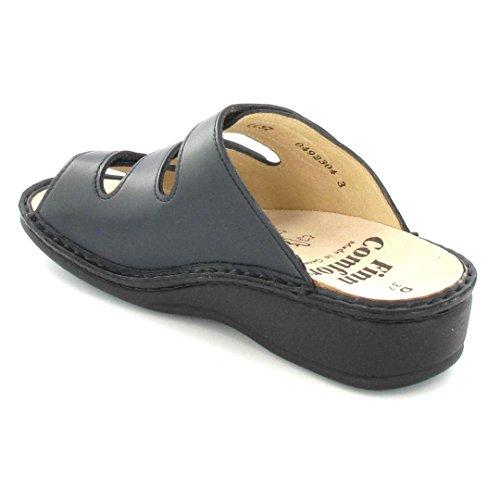 Finn Comfort Pisa, da donna, con zeppa, con motivo a sandali Blu (Blu)