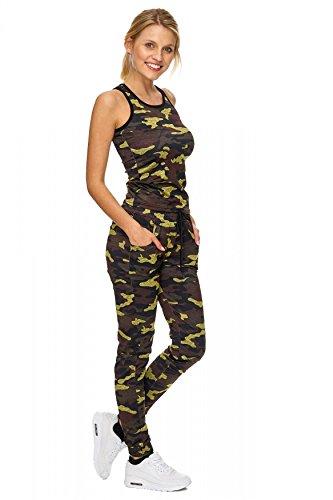 Tuta sportiva da donna Camouflage Tuta sportiva D1831 Bruno