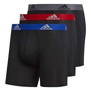 adidas Men's Sport Performance Climalite Boxer Brief (3-Pack) Underwear, Collegiate Royal Scarlet Black/Onix, XX-Large