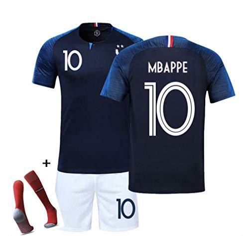Champion Track Shorts (DUBAOBAO FFF Fußballweltcup Sportswear Team Champion Jersey 2018 Weltcup Zwei-Sterne-Shorts, geeignet für Kinder/Erwachsene/Jugendliche,Black,S)