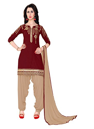 Bigben Maroon Cotton Embroidery Designer Patiala Salwar Suits