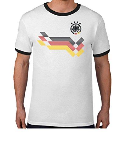 Maglia uomo - coppa del mondo - fan germania t-shirt maglietta uomo medium bianco/nero