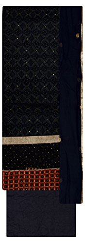 KAPILA SAREES Women's Cotton Unstitched Dress Material (Black)