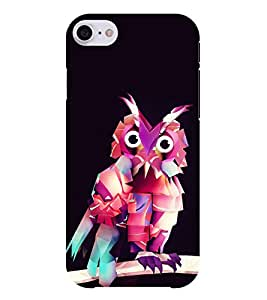 Chiraiyaa Designer Printed Premium Back Cover Case for Apple iPhone 7 (owl colorful funny) (Multicolor)