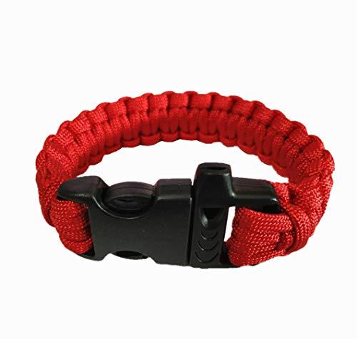YKS Multifonctionnel Bracelet de Survie Paracord avec Sifflet et Boucle en Plastique Extérieur Sauvetage d'urgence Parachute Corde pour Camping Randonnée par SamGreatWorld