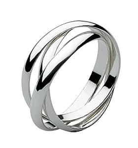 Dew Women's Sterling Silver Russian Wedding Ring Size:L