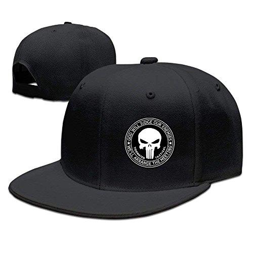 GC & DT Cap Hat The Punisher Flat Baseball Caps Hats for Unisex Black