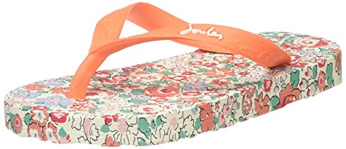 Joules Girls Jnr Flipflop Flip Flops, Orange (Bright Orange Ditsy), 2 UK 34 EU