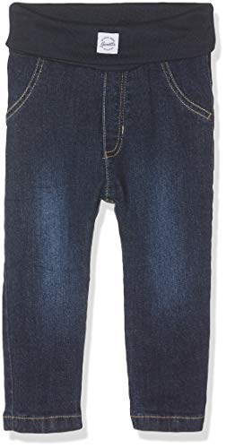 Sanetta Unisex Baby Gefütterte Jeanshose Jeans, Blau (Dark Blue 9394), 86 (Herstellergröße: 086)