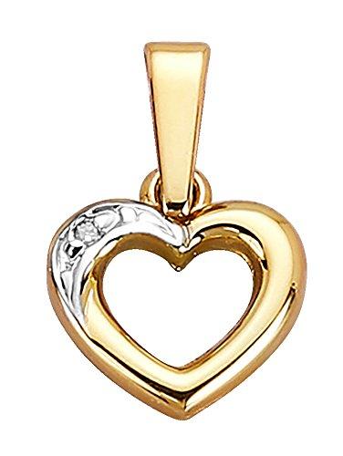 WENZ Damen Herz-Anhänger mit Diamant