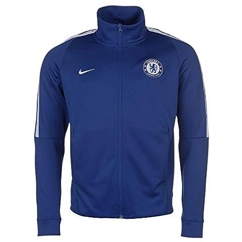 2017-2018 Chelsea Nike Authentic Track Jacket (Blue)