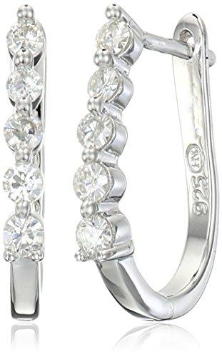 platinum-over-sterling-silver-vg-moissaniteu-hoop-earrings