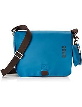 BREE Unisex-Erwachsene Punch 61, Inkblue, Shoulder Bag W17 Umhängetasche, Blau (Inkblue), 21x6x26 cm
