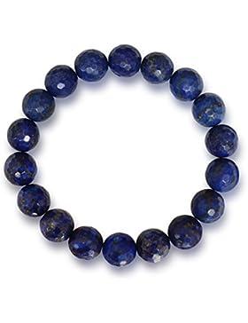 Lapislazuli Armband, natürlich, tiefblau, rund, facettiert, 10mm