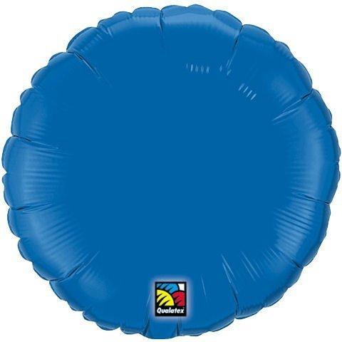 "Plain Periwinkle Round 18"" Mylar Balloon by Qualatex"