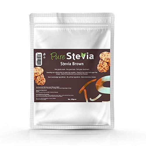 Stevia brauner Zucker Kristal - Natures - Premium - 500G - PureStevia - leckerer Zuckerersatz - doppelt so süß wie brauner Zucker - Rohrzucker alternative -Nicht bitter! -