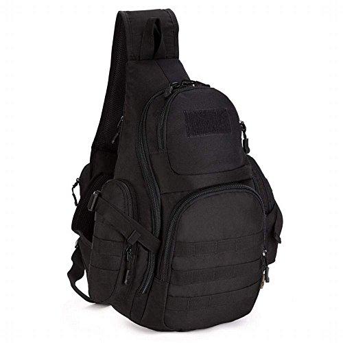Hung Kai Triangle Large Capacity 7 Color Optional Camo Waterproof Travel Mountaineering Camping Trek Diagonal Package Outdoor Sports Shoulder Bag Tactical Backpack Trek Messenger