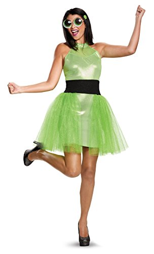 Kostüm Buttercup - Women's Powerpuff Girls Buttercup Deluxe Fancy dress costume Small