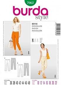 Patron de couture Burda 7062 pantalon, facile, tailles 36 - 48