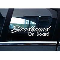 Bloodhound on Board Dog, vinile auto adesivo
