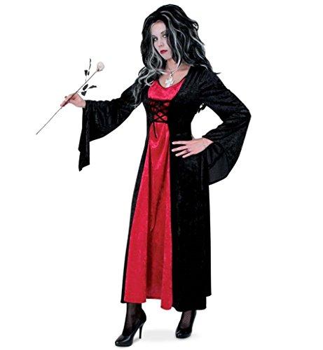 Kleid für Frauen Karneval Fasching Halloween Hexe Vampir Gr 38 - 46 (46) ()