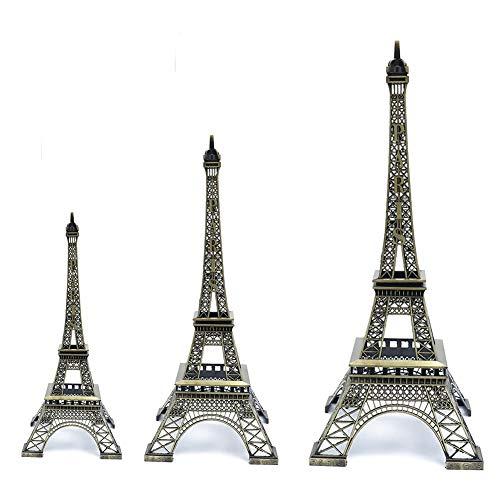 Estatua Torre Eiffel 3 Piezas Metal Torre Eiffel París