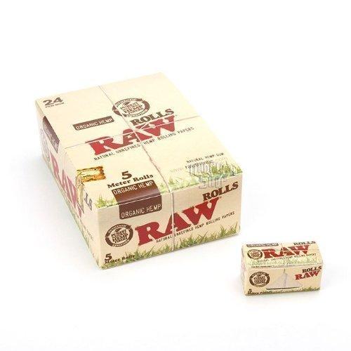 raw-papel-de-liar-organico-caja-5-metros-24-librillos