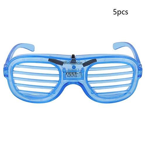 AUNMAS 5 stücke Glow Brille Leuchten Gläser LED Sonnenbrille für Glowing Party Rave Im Dunkeln leuchten Leuchtende Glas Party Prop(3#)