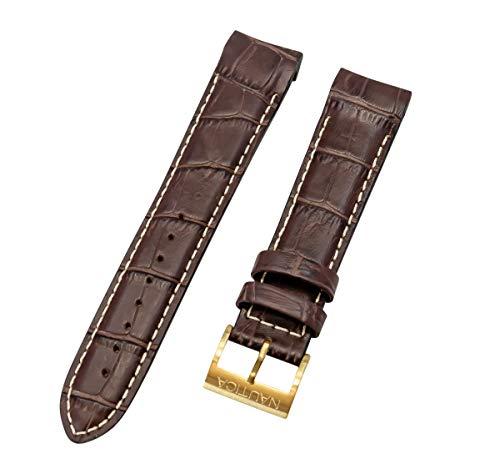 653199896253 Nautica Men s N18522G NST Chrono Brown Croco Leather