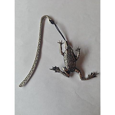 Leaping C11 a forma di rana, con segnalibro 3D con ciondolo in peltro inglese by Prideindetails made in sheffield