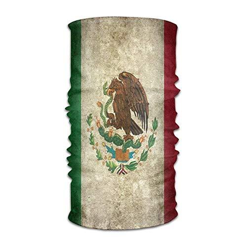 keiwiornb Balaclava Windproof Ski Mask-Women Men Retro Mexico Flag Fashion Headscarf Outdoor Sport Headwear Bandanas Multifunction Magic Scarf,Neck Gaiter,Hand Wrap,Neck Balaclava for UV Resistence