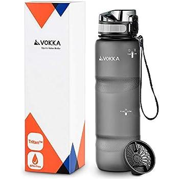 VIOVA Trinkflasche 1l schwarz - Flasche BPA frei aus