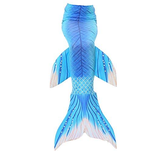 Fanryn niedlich Mädchen Meerjungfrau Schwimmanzug Meerjungfrauenschwanz zum Schwimmen Badeanzüge Kostüm Badeanzug Kann Monofin treffen für Kinderschwimmen Schwimm Cosplay (2 Teiliges Meerjungfrau Kostüm)