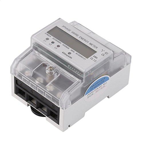 Sweepid Wechselstromzähler Drehstromzähler Stromzähler DIN 5(80) A 3x230/400V Hutschiene LCD