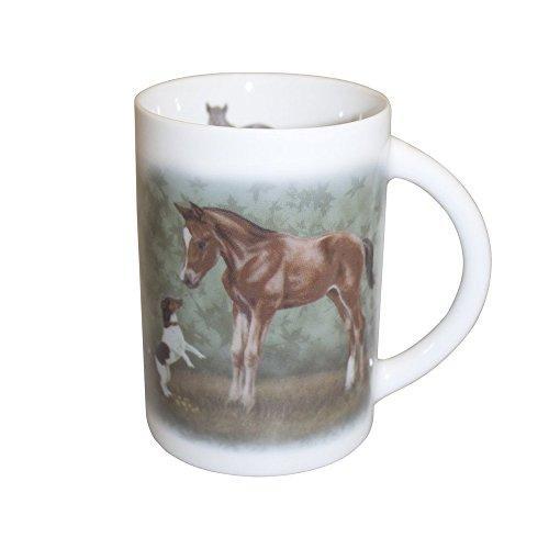 netproshop Designer Tasse Kaffeetasse Kaffebecher Pferdetasse Bötzel Versch. Pferdemotive,...