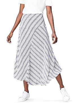 FIND Falda Asimétrica de Rayas para Mujer