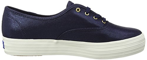 Keds Triple Metallic Canvas, Chaussures de Running Femme Bleu (Peacoat Navy)