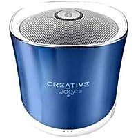 Creative Woof 3 - Haut Parleur Bluetooth Enceinte sans Fil Portable avec Port microSD - Bleu