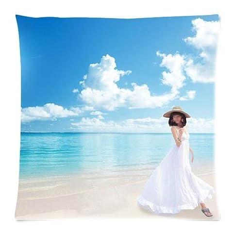 Union Jack Blue Pillow Cases 18x1Inch