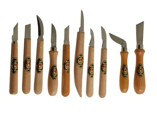 Two Cherries 515-3310 Chip Carving Knives - 10 Piece Set Chip Carving Knives