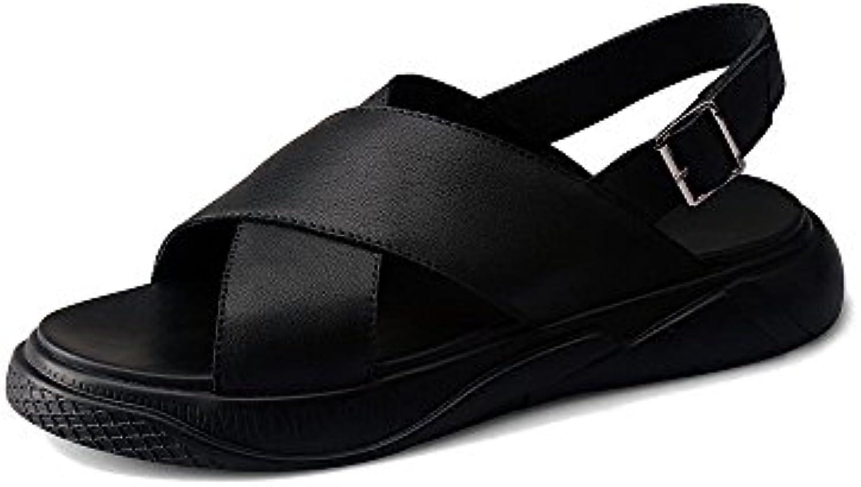 GAOLIXIA Herren Echtes Leder Business Schuhe Formale Schuhe Sommer Arbeit Schuhe Freizeitschuhe Mode Kleid Freizeitschuhe