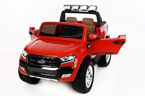 RC Auto kaufen Kinderauto Bild 2: RIRICAR Ford Ranger Wildtrak 4X4 LCD Luxury, Elektro Kinderfahrzeug, LCD-Bildschirm, rot - 2.4Ghz, 2 x 12V, 4 X Motor, Fernbedienung, 2-Sitze in Leder, Soft Eva Räder, Bluetooth*