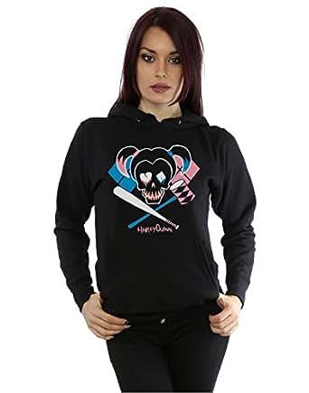 Suicide Squad Damen Harley Quinn Skull Emblem Kapuzenpullover X-Small Schwarz