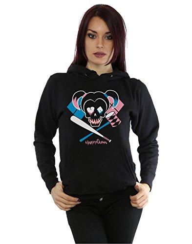 Suicide Squad Damen Harley Quinn Skull Emblem Kapuzenpullover X-Large (Harley Quinn Hoodie)