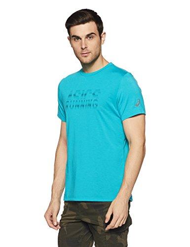 Asics Herren Graphic Kurzarmshirt, Lake Blue, M Preisvergleich