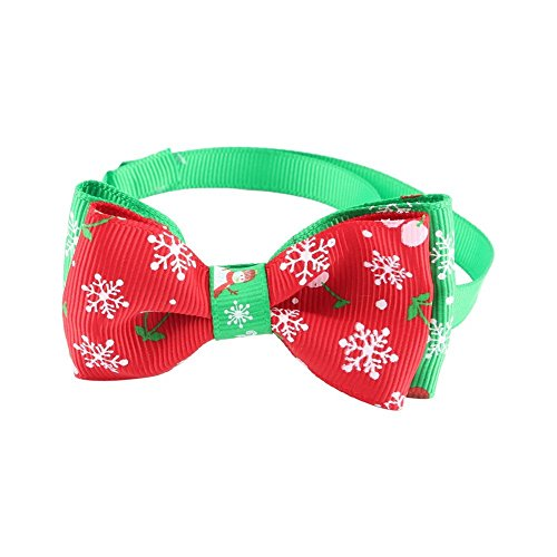 ZJchao Halskette für Hunde Katzen Welpen mit Schleife Schmetterling Geschenk Weihnachten und Dekoration für Tier -