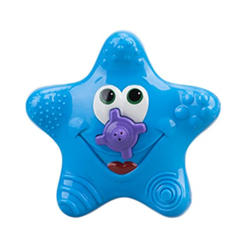 Coupon Matrix - GreatestPAK Sale! Baby Bath CM© toys, Summer Babies Cute Electrical Starfish Sprinkler Shower Sassy Swimming Pools Bathing CM© toy Toddler Gift (Blue)