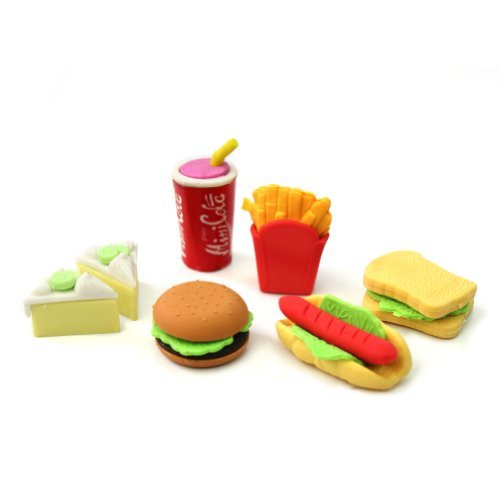 novelty-cute-food-rubber-pencil-eraser-set-various-stationery-kids-children-toy-6pc